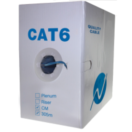 SF CAT6 UTP CCA cable 1000ft BL