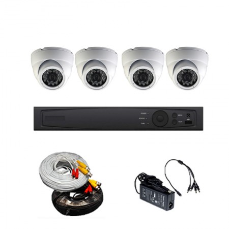 HD TVI 5MP 4CH 1U mini DVR Package