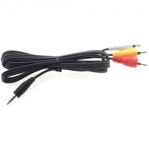 RCA-3.5 Male to RCA-Male x3 6-ft