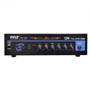 Pyle PT210 120 Watts Microphone PA MONO Amplifier with 70 Volt Output