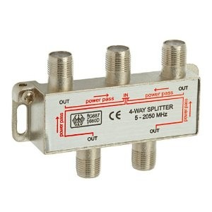 4Way coaxial splitter 530202
