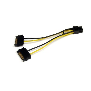 SATA Power to 6 Pin PCI Express Video Card Power Cable Adapter
