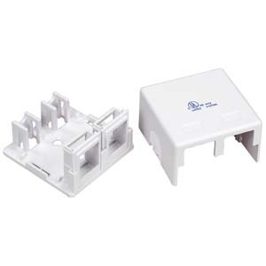Surface mount Cat5e 2Port (Box Only)